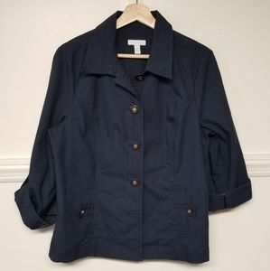 XL Charter Club Navy Blazer Jacket Nautical